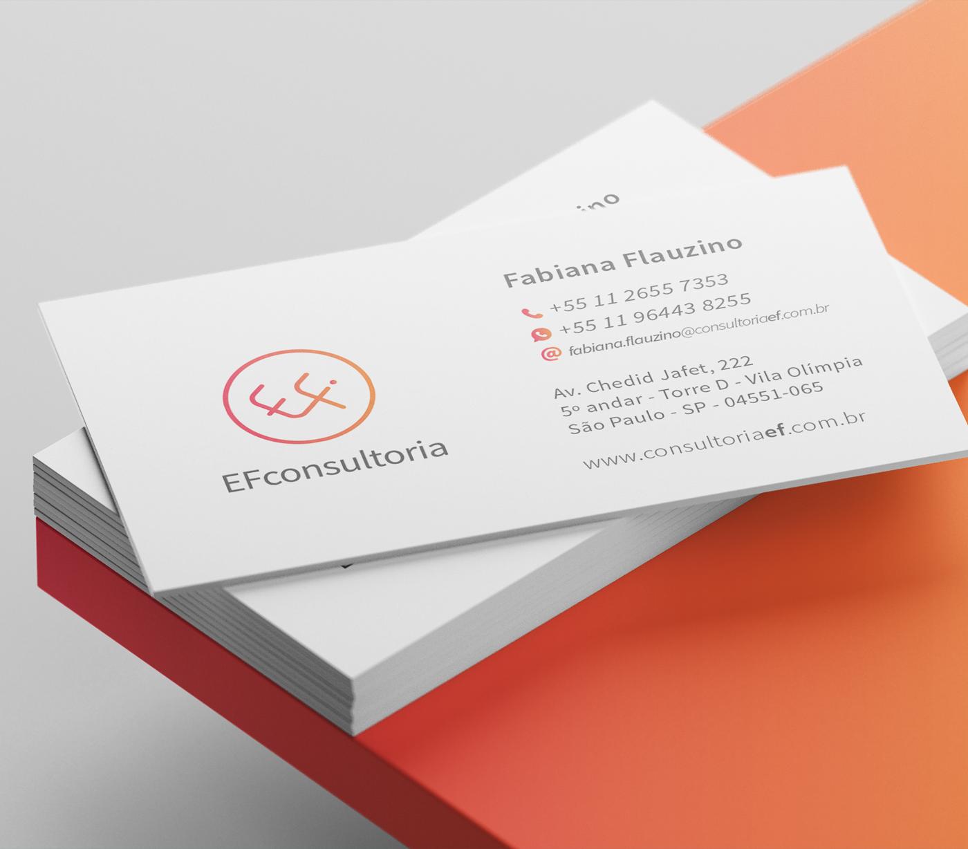 Cartão de Visitas EF Consultoria